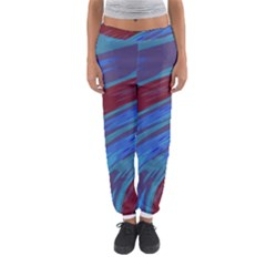 Swish Blue Red Abstract Women s Jogger Sweatpants