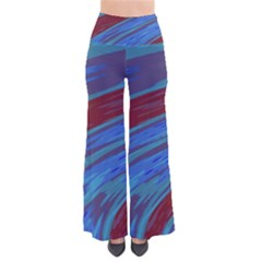 Swish Blue Red Abstract Pants