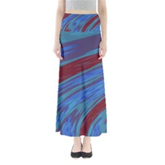 Swish Blue Red Abstract Maxi Skirts