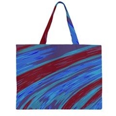 Swish Blue Red Abstract Large Tote Bag