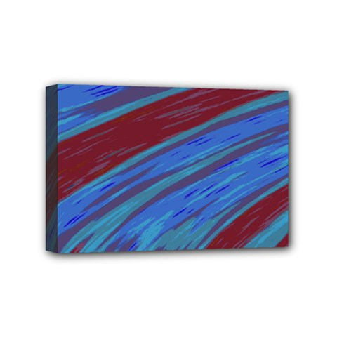 Swish Blue Red Abstract Mini Canvas 6  x 4