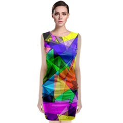 Colorful triangles                     Classic Sleeveless Midi Dress