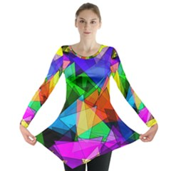 Colorful triangles                                                                  Long Sleeve Tunic