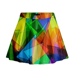 Colorful Triangles                                                                    Mini Flare Skirt