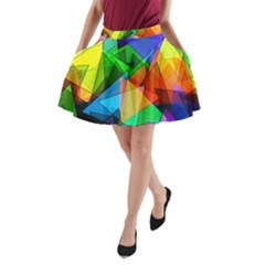 Colorful Triangles                                                                  A Line Pocket Skirt