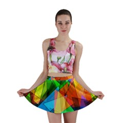 Colorful triangles                                                                  Mini Skirt