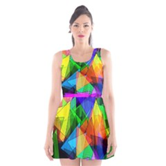 Colorful Triangles                                                                  Scoop Neck Skater Dress