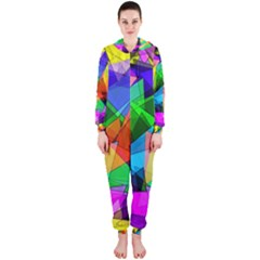 Colorful triangles                                                                  Hooded Jumpsuit (Ladies)