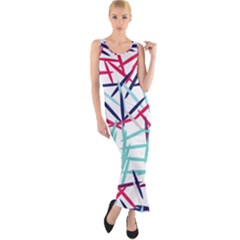 Strokes                                                                    Fitted Maxi Dress