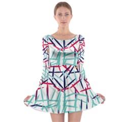 Strokes                                                                    Long Sleeve Skater Dress