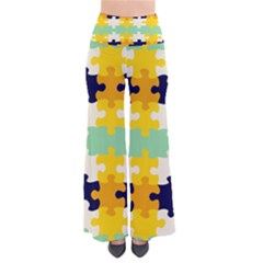 Puzzle pieces                                                    Women s Chic Palazzo Pants