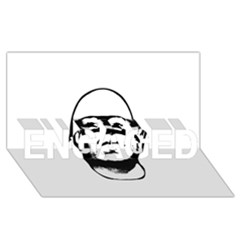 Baldhead Hero Comic Illustration ENGAGED 3D Greeting Card (8x4)
