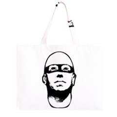 Baldhead Hero Comic Illustration Zipper Large Tote Bag
