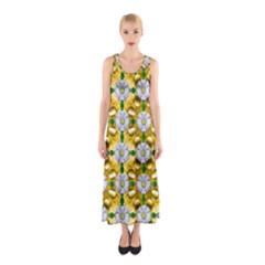 Summer Festive In Green Grass  Sleeveless Maxi Dress