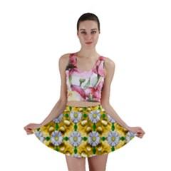 Summer Festive In Green Grass  Mini Skirt