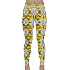 Summer Festive In Green Grass  Yoga Leggings