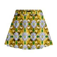 Summer Festive In Green Grass  Mini Flare Skirt