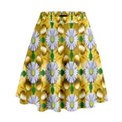 Summer Festive In Green Grass  High Waist Skirt