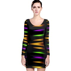 Fireworks And Calming Down Long Sleeve Bodycon Dress
