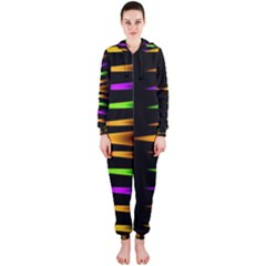 Fireworks and calming down Hooded Jumpsuit (Ladies)