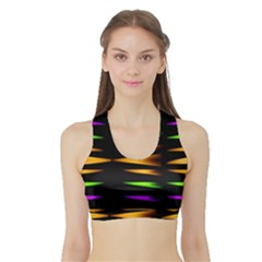 Fireworks and calming down Women s Sports Bra with Border