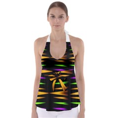 Fireworks And Calming Down Babydoll Tankini Top