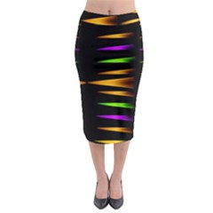 Fireworks And Calming Down Midi Pencil Skirt