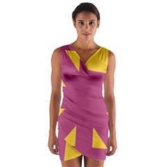 Annabellerockz Sun In  3 Wrap Front Bodycon Dress