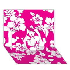 Pink Hawaiian Boy 3d Greeting Card (7x5)
