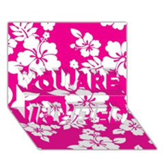 Pink Hawaiian YOU ARE INVITED 3D Greeting Card (7x5)