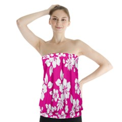 Pink Hawaiian Strapless Top