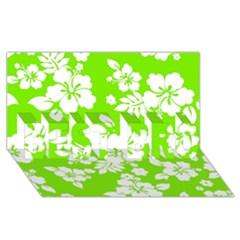 Lime Hawaiian BEST BRO 3D Greeting Card (8x4)