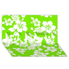 Lime Hawaiian PARTY 3D Greeting Card (8x4)