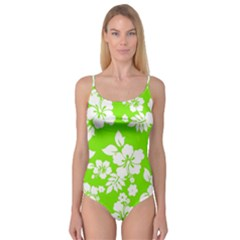 Lime Hawaiian Camisole Leotard