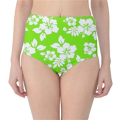 Lime Hawaiian High-Waist Bikini Bottoms