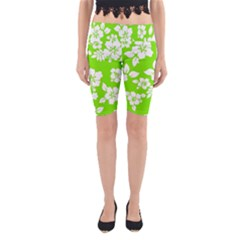 Lime Hawaiian Yoga Cropped Leggings