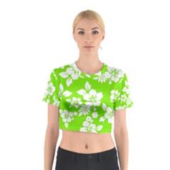 Lime Hawaiian Cotton Crop Top