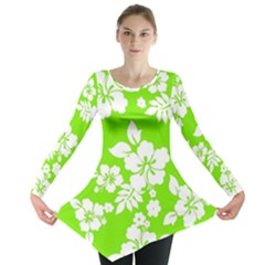 Lime Hawaiian Long Sleeve Tunic