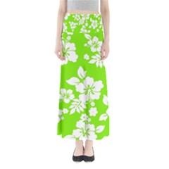 Lime Hawaiian Maxi Skirts