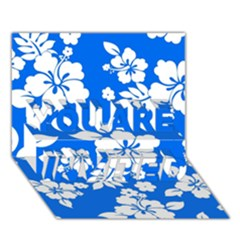Blue Hawaiian YOU ARE INVITED 3D Greeting Card (7x5)