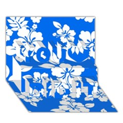 Blue Hawaiian You Did It 3D Greeting Card (7x5)