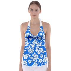 Blue Hawaiian Babydoll Tankini Top