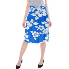 Blue Hawaiian Midi Beach Skirt