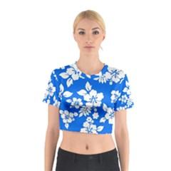 Blue Hawaiian Cotton Crop Top