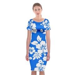 Blue Hawaiian Classic Short Sleeve Midi Dress
