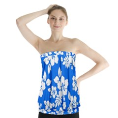 Blue Hawaiian Strapless Top