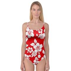Red Hawaiian Camisole Leotard