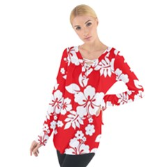 Red Hawaiian Women s Tie Up Tee