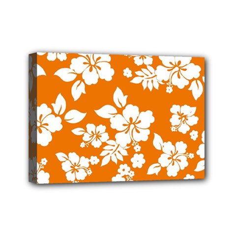 Orange Hawaiian Mini Canvas 7  x 5