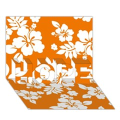 Orange Hawaiian HOPE 3D Greeting Card (7x5)